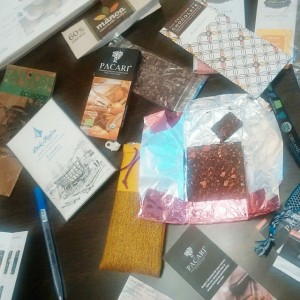 Discussing and sampling the goods at a bean-to-bar meeting I held with one of my chocolate consulting clients