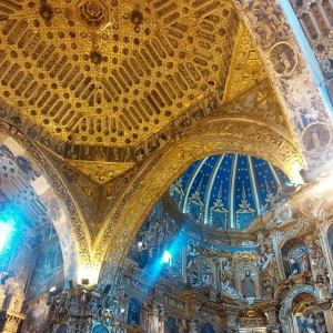 Glorious gilded San Francisco church, in Quito