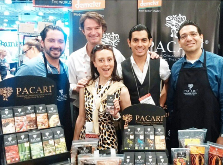 with santiago of pacari and team at nyc fancy food summer 2015