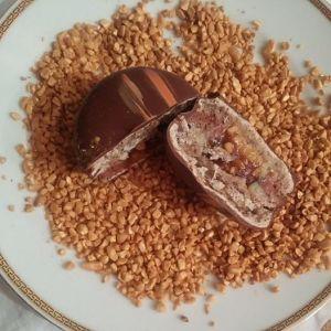 Chocolate Hazelnut Peanut Macaron