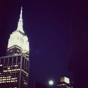 View from my suite at the Eventi Hotel. #empirestateofmind