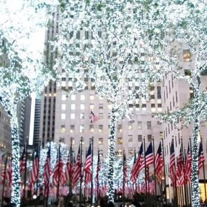 Veteran's Day meets pre Christmas at Rockefeller Center NYC