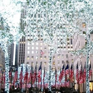Veteran's Day meets pre Christmas at Rockefeller Center NYC