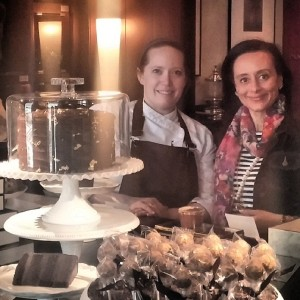 With Chef Meg of NoMI some months earlier at her chocolate Mother's Day pop-up