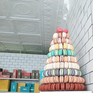 Skyscraper of macarons