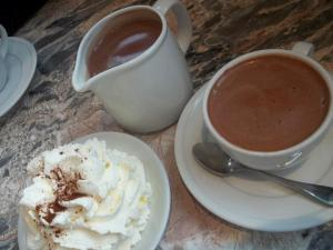 Hot chocolate at Capogiro Gelato Artisans