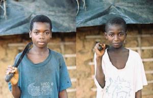 cocoa farming boys with machetes
