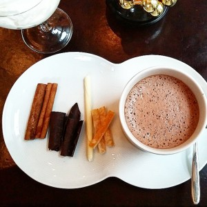 Hot chocolate bar at NoMI Chicago