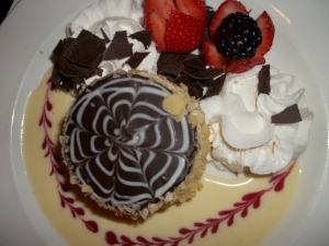 Presentation of the original Boston Cream Pie