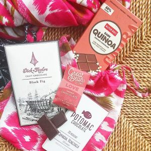"One of my Chocolate Uplift ""Sweet & Chic"" gift sets, available at my speaking engagements or on my website"