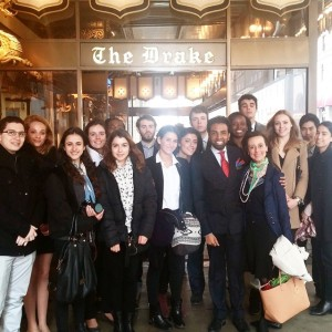 Students and me with dear friend Shaun Rajah of The Drake Hotel on our day about The Business of Hospitality: Every Detail Counts