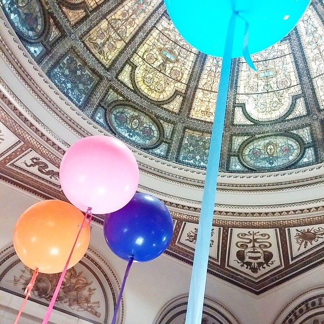 Let there be balloons: festive Dose Market at the Chicago Cultural Center