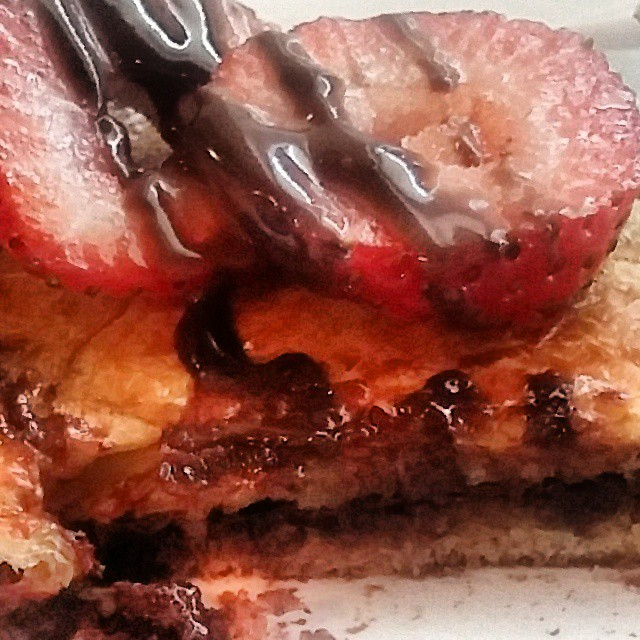 grilled chocolate croissant