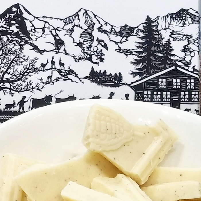 Back to the excellent fair trade white chocolate by Milkboy Chocolate.