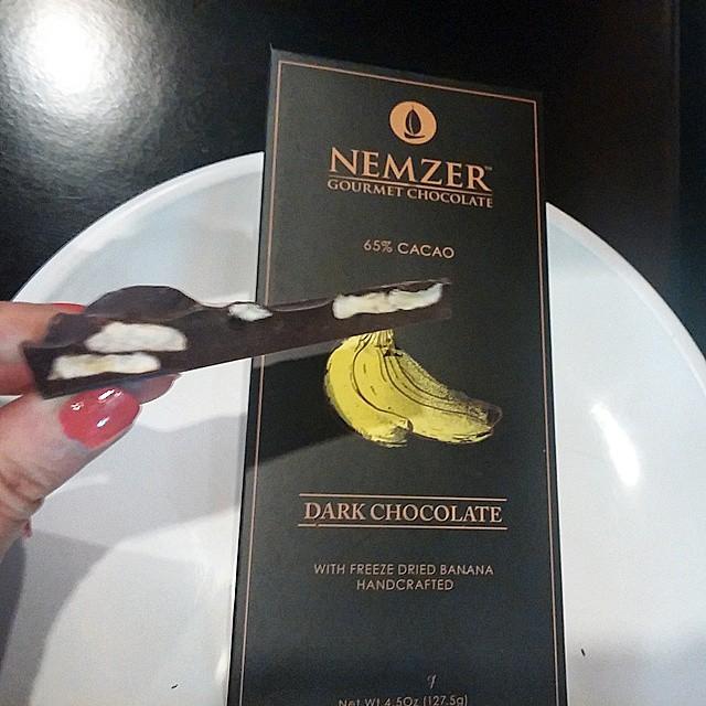 Chocolate and banana bar