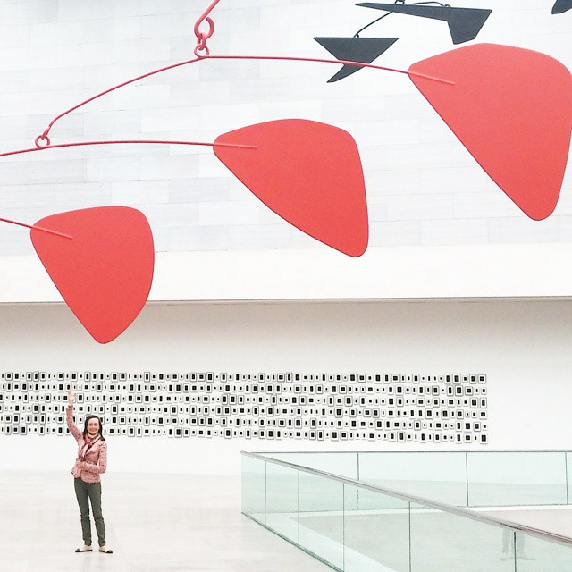 Saying hello to my old friend, the Calder sculpture at the National Gallery