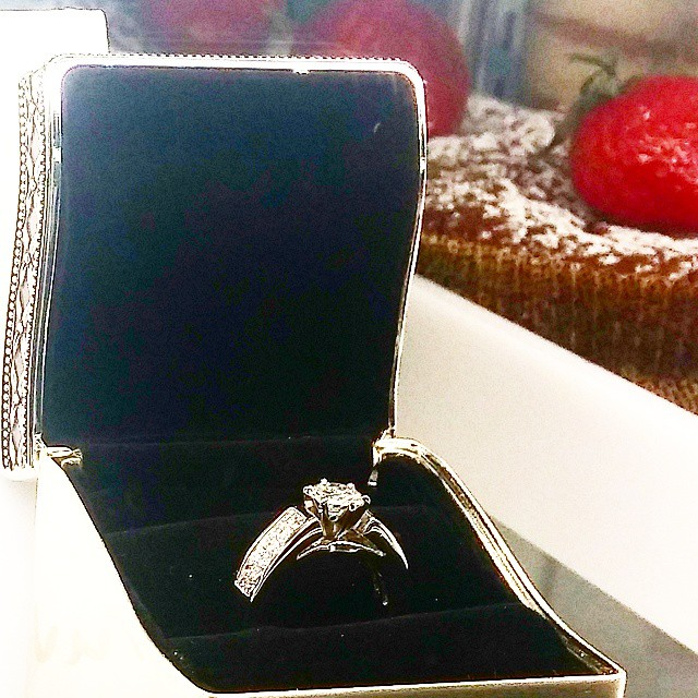 We tucked the ring into the pastry case...
