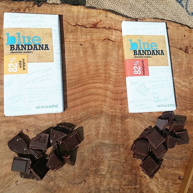 Blue Bandana craft chocolate, part of Lake Champlain Chocolate