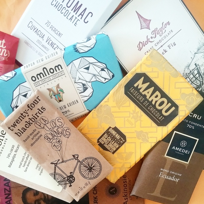 A small sample of the wide array of ethical chocolate