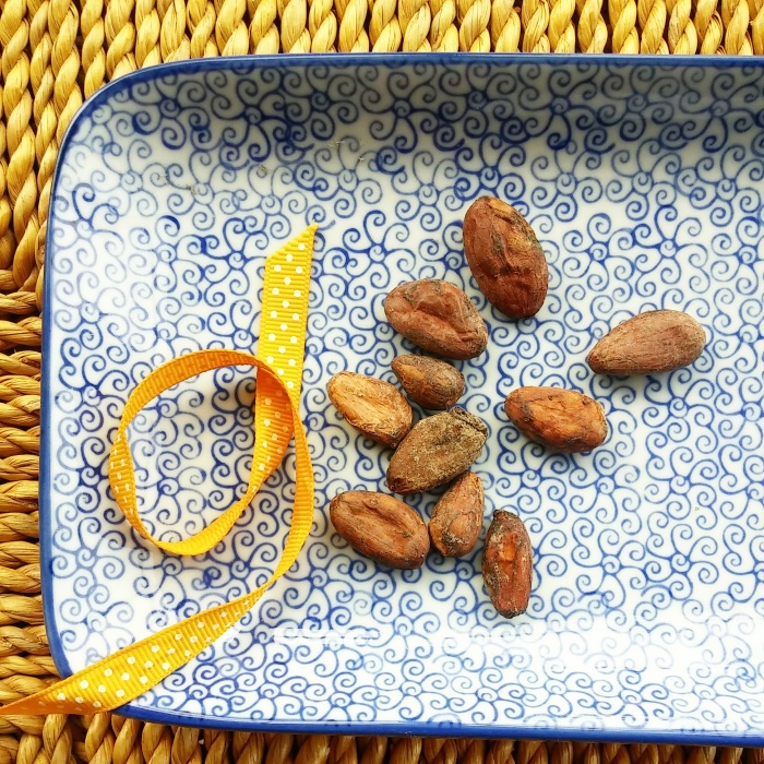 Cocoa beans, also called cacao, from which chocolate is made