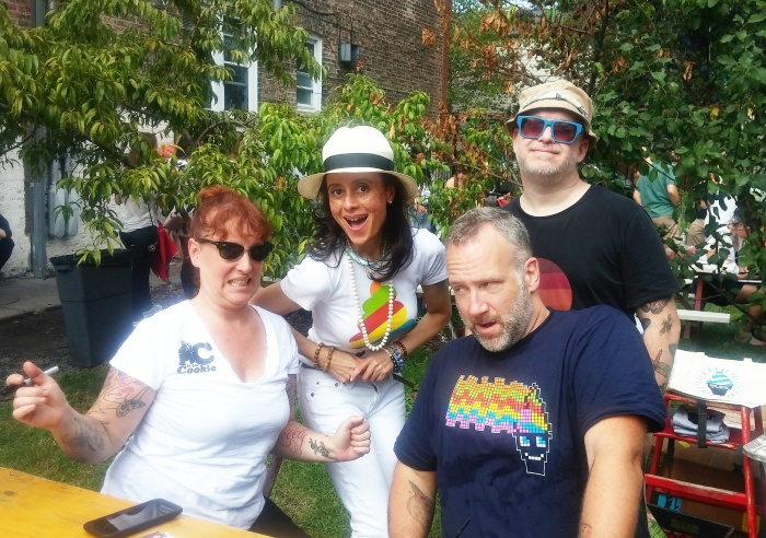 Mindy Segal of Hot Chocolate, yours truly, and Douglas Quint and Bryan Petroff of Big Gay Ice Cream.