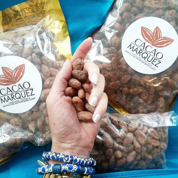 Venezuelan cacao from Cacao Marquez, which the owner gave me at the Festival, to sample for and with clients, after we'd connected on instagram