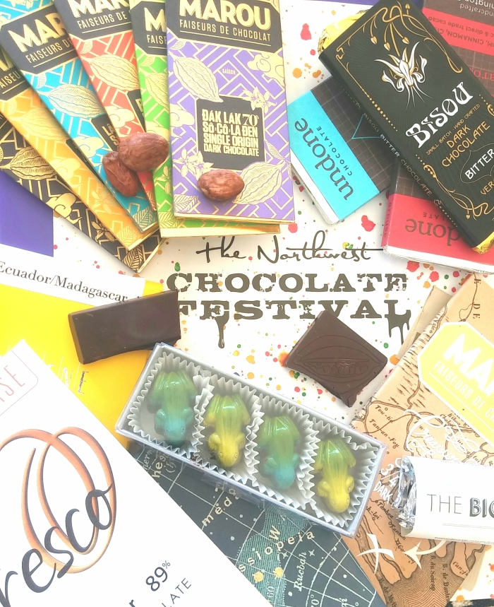 A mere fraction of what I brought back from the NW Chocolate Festival in Seattle.